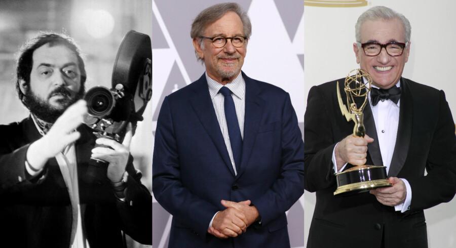Fra venstre: Stanley Kubrick, Steven Spielberg og Martin Scorsese.