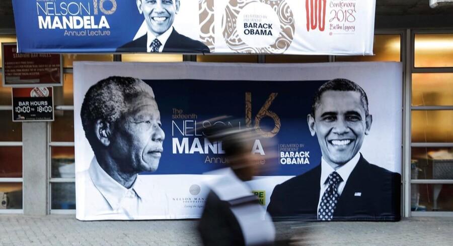 Den tidligere amerikanske præsident holder tale på stadion om en af de største inspirationskilder i sit liv.