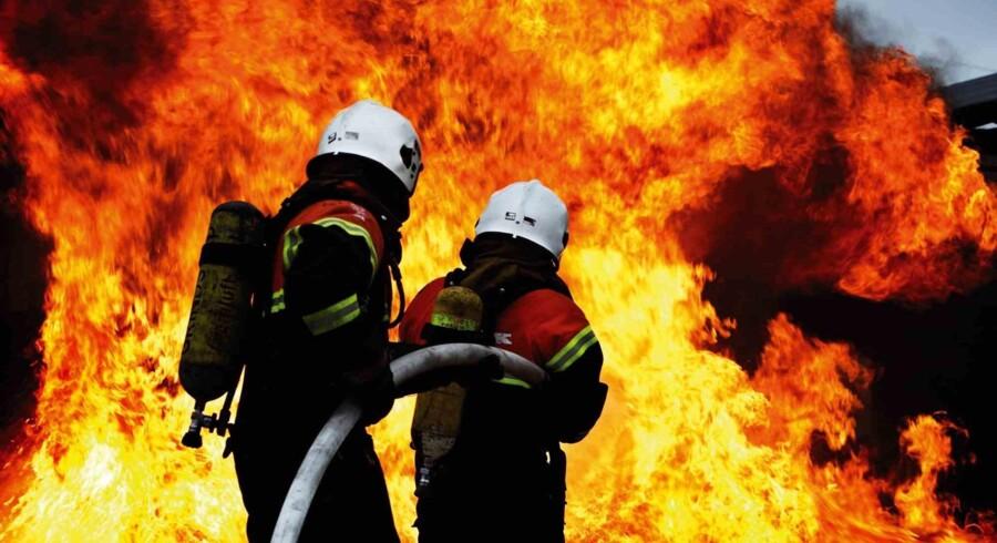 Et forsamlingshus i Sønderjylland er natten til tirsdag brændt ned til grunden. Pressefoto, Falck/arkiv/Free