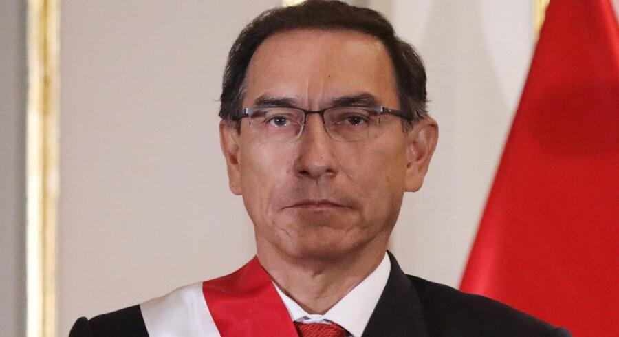 Martín Vizcarra har været præsident i Peru siden marts i år. Guadalupe Pardo/Arkiv/Reuters