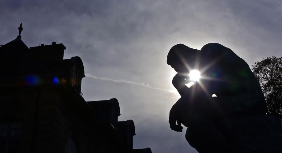 Auguste Rodins »Grubleren« i Paris. Foto: Philippe Wojazer/Reuters/Ritzau Scanpix