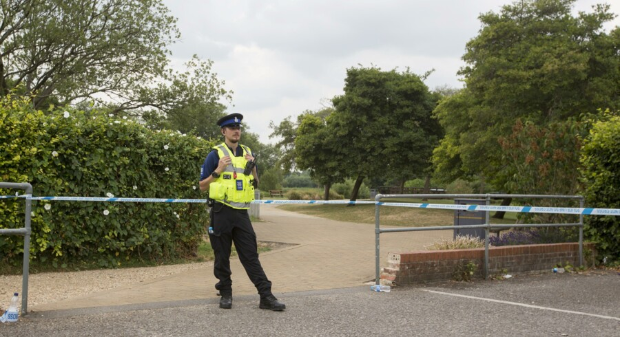 epa06865246 Queen Elizabeth Gardens in Salisbury remains closed and cordoned off as investigations continue into how Dawn S. and Charlie R. were found unconscious on Saturday night, in Amesbury, Britain, 05 July 2018. Charlie R. and his partner Dawn S. had allegedly being exposed to the nerve agent Novichok, according to police. EPA/RICK FINDLER