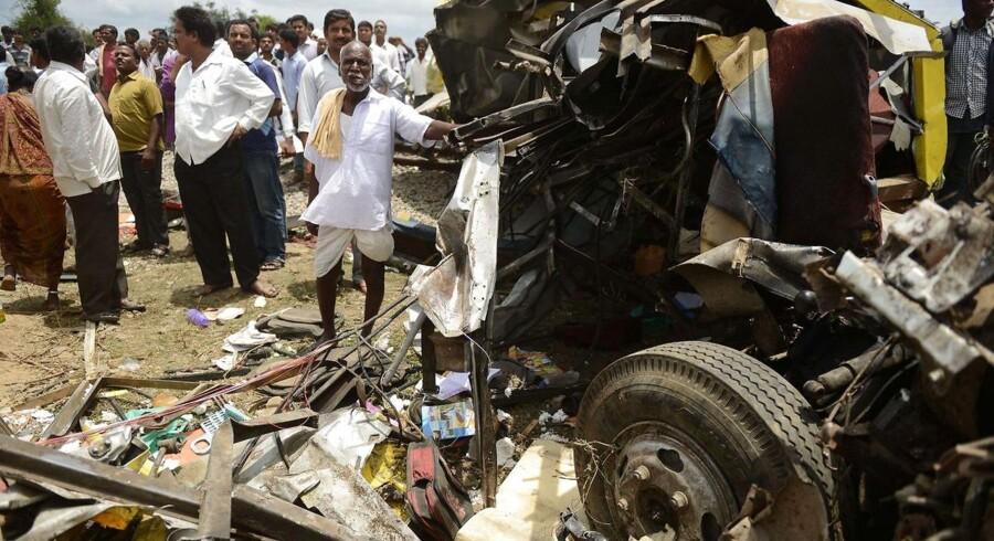 Arkivfoto: Tidligere trafikulykke i Hyderabad, Indien.