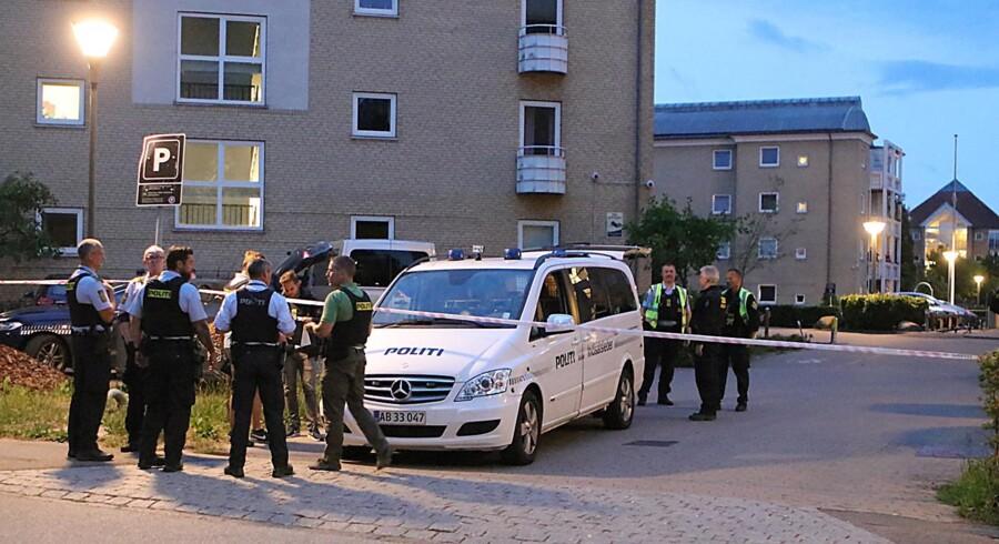 Tre unge mænd blev onsdag i sidste uge ramt af skud i Husum. Presse-fotos.dk/Ritzau Scanpix