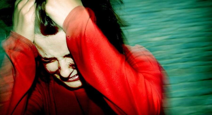 MODELFOTO af kvinde med depression- - Se RB 6/11 2014 13.41. Kvinder, der har været udsat for sexchikane, har større risiko for at udvikle angst og depression, viser forskning fra Norge. Det skriver Fagbladet 3F. (Foto: BAX LINDHARDT/Scanpix 2012)