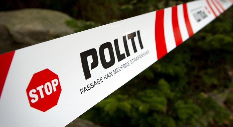 Politiet er tilstede ved Legind Sø på Mors.
