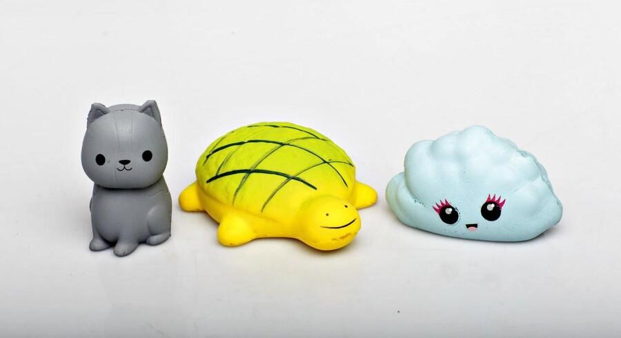 Svampelegetøjet kaldet Squishy er populært blandt børn.. (Foto: Miriam Dalsgaard/Ritzau Scanpix)
