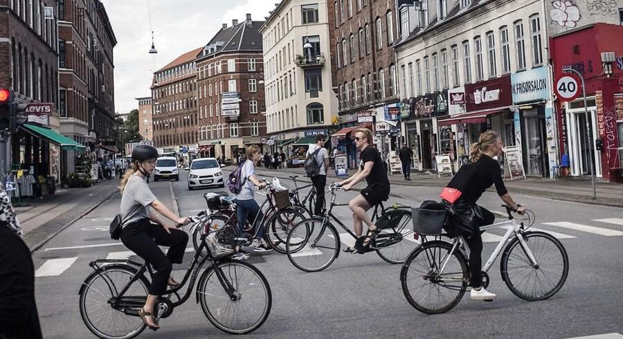 Cyklister på Nørrebrogade.