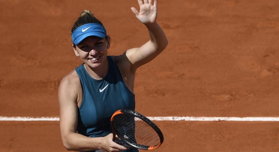 Simona Halep er i sin fjerde grand slam-finale. I januar tabte hun til Caroline Wozniacki. Eric Feferberg/Ritzau Scanpix