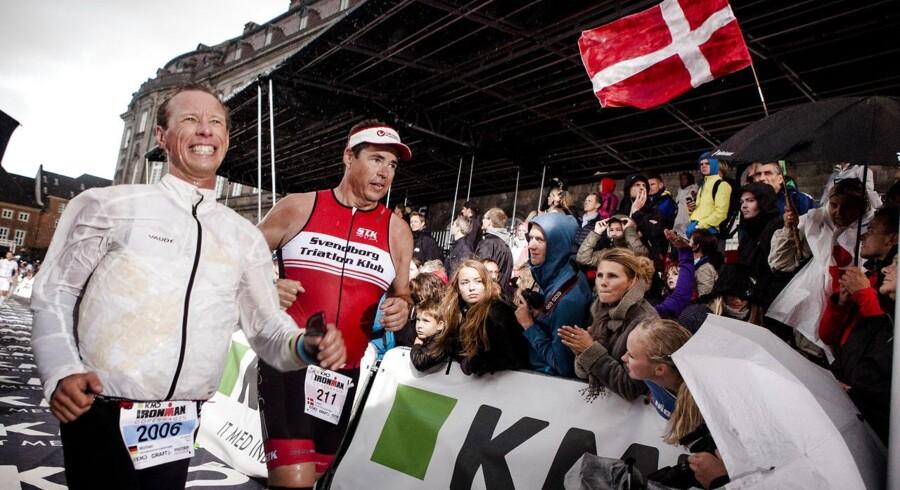 Torbjørn Sindballe giver sit bud på favoritterne til KMD Ironman. Her ses et billede fra målstregen i 2014.