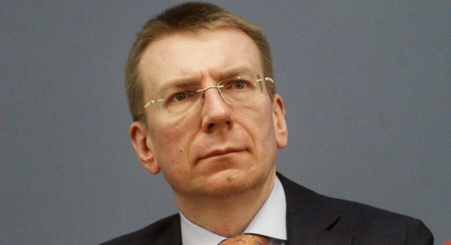 Letlands udenrigsminister, Edgars Rinkevics.