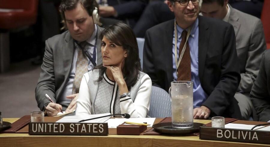 Nikki Haley, amerikansk FN-ambassadør.