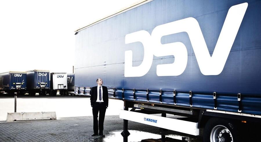 Onsdag morgen leverede DSV et rekordregnskab for halvåret - og det belønnede investorerne hurtigt. Torsdag fortsætter de gode takter for DSV på aktiemarkedet. Arkivfoto af adm. direktør i DSV, Jens Bjørn Andersen.
