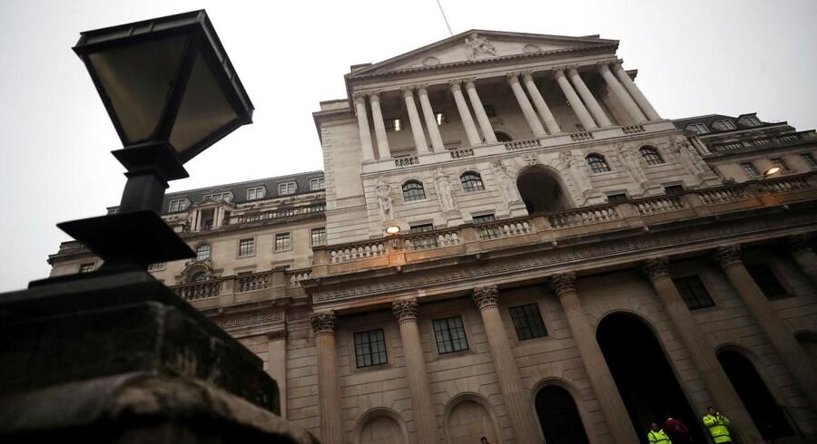 Arkivfoto af Bank of England-bygningen i London.