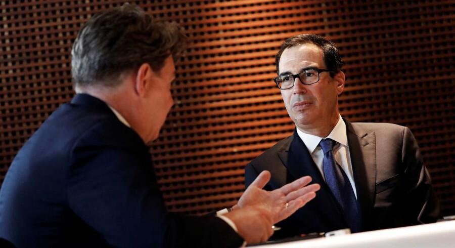 USA's finansminister, Steven Mnuchin, under et interview med Reuters i Sao Paulo, Brasilien, 20 juli, 2018.