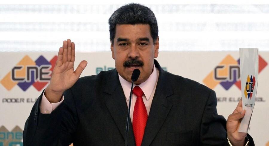 Præsident Nicolas Maduro sværges ind som, ja, præsident af Venezuela efter det nyligt overståede valg.