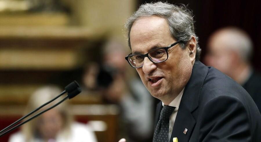 Quim Torra er valgt som ny regional leder for Catalonien.
