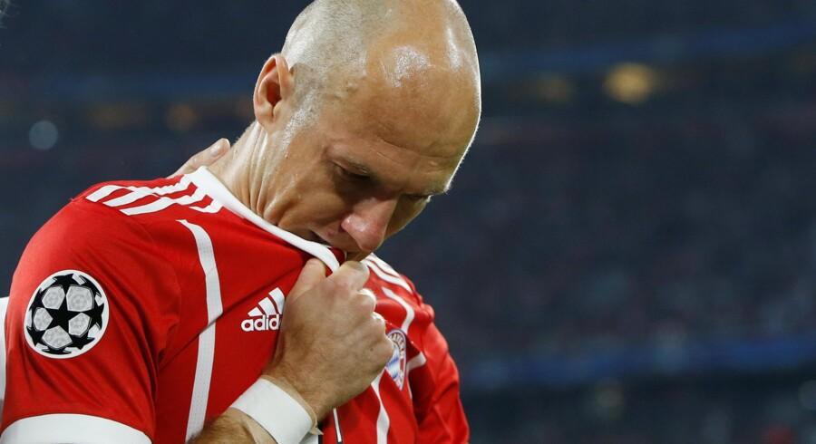 Arjen Robben er en af de største stjerner i Bayern München gennem de seneste sæsoner. Nu tager hollænderen et år mere i det sydtyske. Reuters/Michaela Rehle / Arkiv