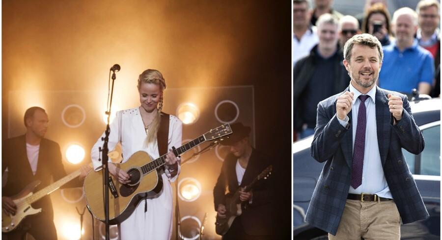 Den danske sangerinde har skrevet et nummer til tronarvingen i anledning af hans 50-års fødselsdag 26. maj.