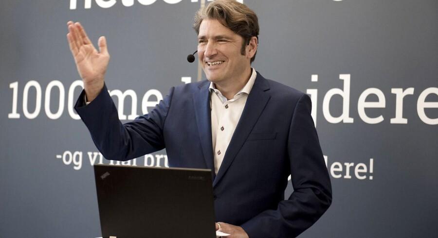 Netcompany er den første virksomhed i mere end 20 år, der runder 1.000 medarbejdere. Der er reception, der er ministertale med Brian Mikkelsen og præsentation af medarbejder nr 1000. Her administrerende direktør i Netcompany, André Rogaczewski.