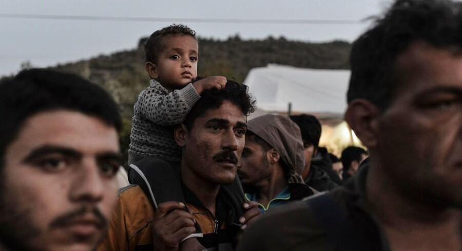 Arkivfoto. Flygtninge og migranter på den græske ø Lesbos. / AFP PHOTO / ARIS MESSINIS