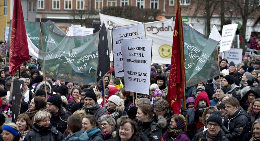Arkiv: Lærerdemonstration onsdag den 20. marts 2013.