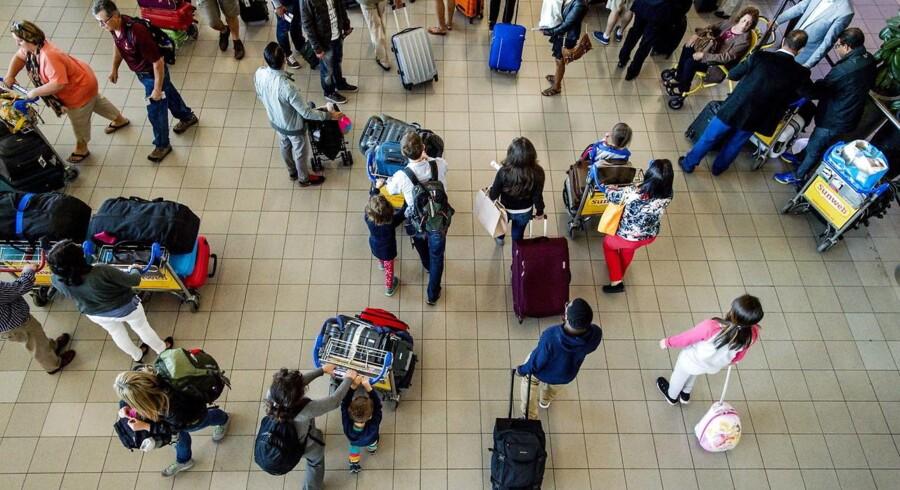 Schiphol Lufthavn i Amsterdam.