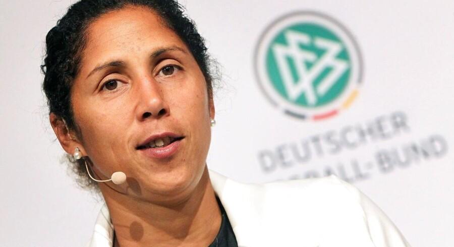 Arkivfoto. Tysklands landstræner Steffi Jones er blevet fyret, blandt andet på grund af EM-nederlaget til Danmark.