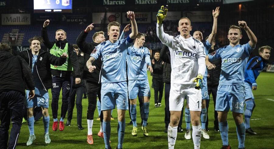 Arkivfoto. Selv om aftalen først udløber til sommer, så har hovedsponsor valgt at forlænge med Randers FC i to år.