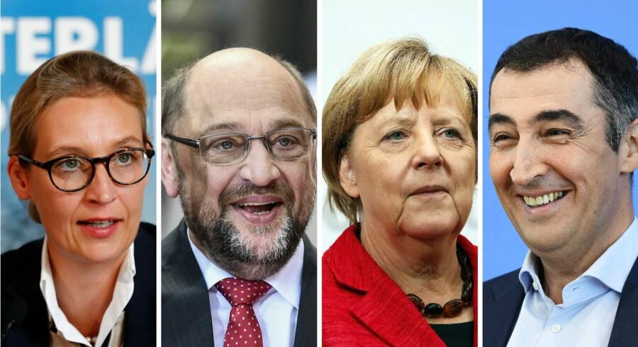 Mens kansler Angela Merkel ser ud til at genvinde valget, er de to partier, det liberale FDP og højrepartiet Alternative für Deutschland, med altovervejende sandsynlighed på vej i forbundsdagen.