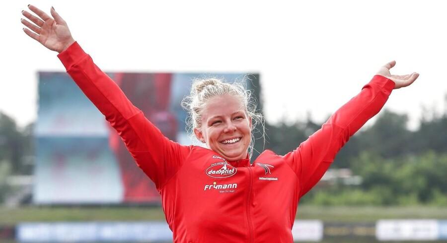 Den danske kajakroer Emma Aastrand Jørgensen roede sig lørdag eftermiddag i finalen i 200 meter enerkajak ved VM i Tjekkiet.