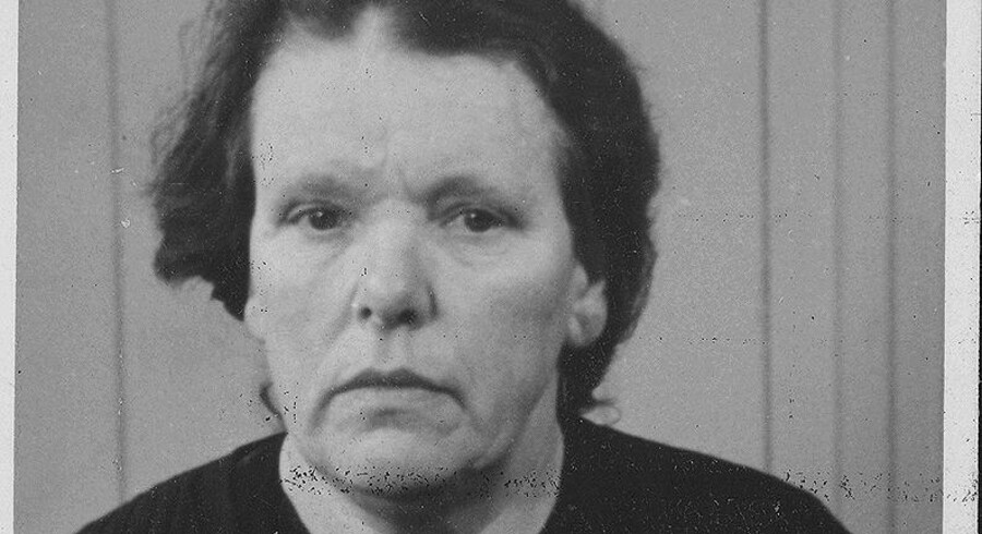 Ellen Nielsen, fotograferet efter hendes arrestation i 1944. Nu vil filmproduceren Niels Juul lave film om hendes liv.