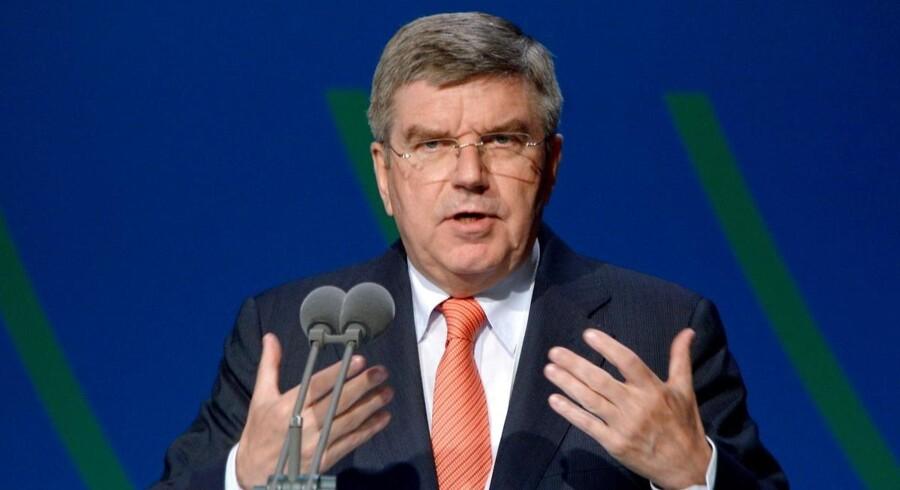 IOCs vicepræsident, den tyske advokat Thomas Bach, holder en tale under den 125. samling af den Internationale Olympiske Komité (IOC) den 9. september 2013.
