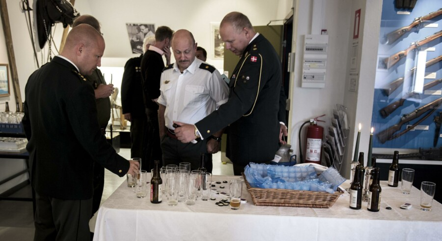 Armadillo-øllen blev prøvesmagt i Antvorskov i går i anledning af Flagdagen.