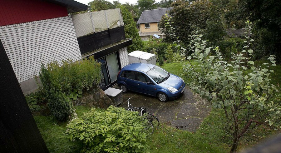 Den 4-årige dreng blev fundet i en garage her på Skovgårdsvej i Helsingør.
