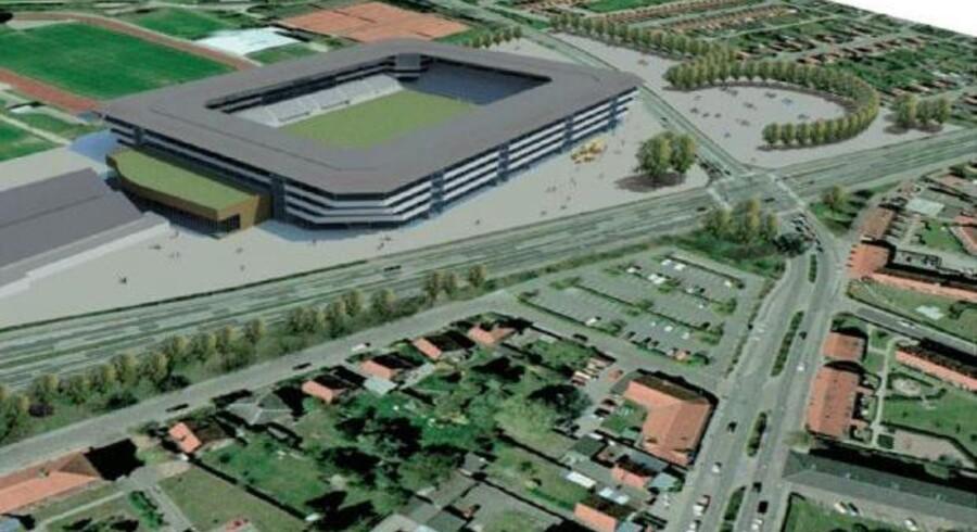 Sådan skulle Køge Park-projektet se ud, havde det nogensinde stået færdigt.