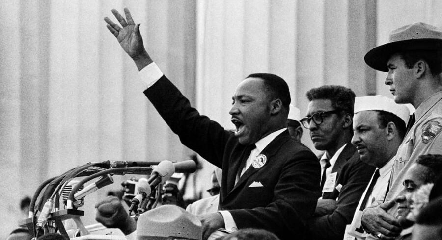 Martin Luther King, Jr. slutter sin berømte tale, der indeholder ordene: »I Have a Dream«