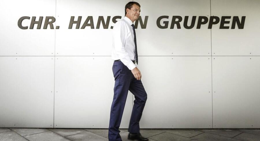 Aktionærer i Chr. Hansen kan i dag glæde sig over, at virksomheden udbetaler udbytte på 4,70 kroner pr. aktie. Her ses Topchef Cees de Jong.