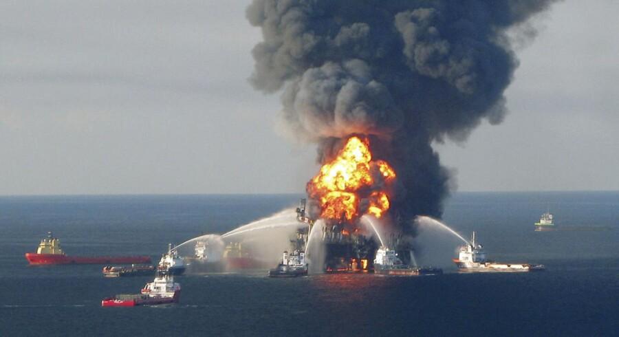 Udslippet fandt sted ved oliegiganten BPs boreplatform i den Mexicanske Golf.