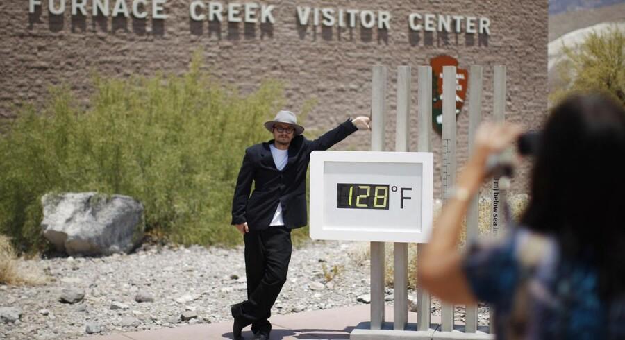 Rekorden for den varmeste dag nogensinde blev sat her i Death Valley i USA.