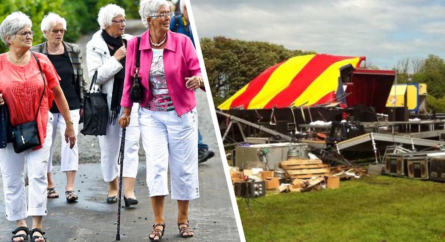 Et af Cirkus Arenas cirkustelte med godt 500 tilskuerekollapsede fredagunder en forestilling i Kalundborg. Lørdag er to fortsat indlagt mens de øvrige fem tilskadekomne er udskrevet.