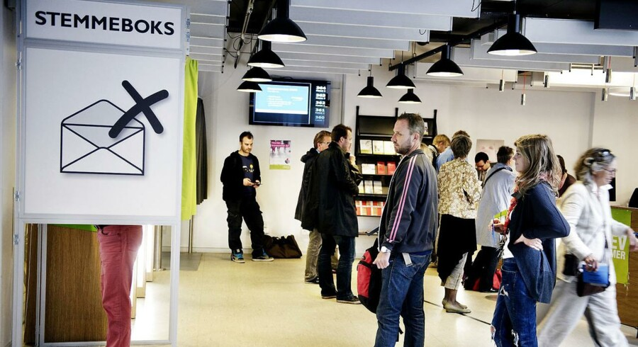 ARKIVFOTO. Her brevstemmes der på Hovedbiblioteket i København.