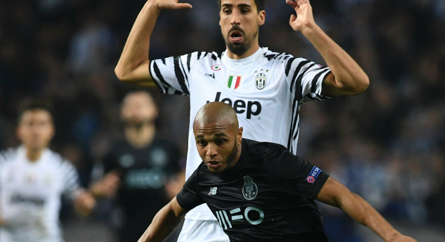 Juventus og Sami Khedira havde styr på kampen ude mod FC Porto. Scanpix/Francisco Leong