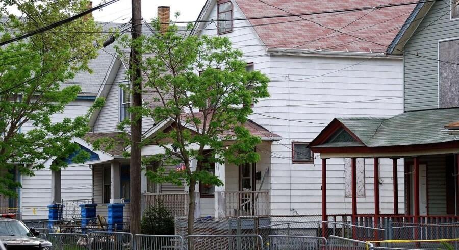 Huset hvor de tre kvinder blev holdt fanget i ti år af Ariel Castro.