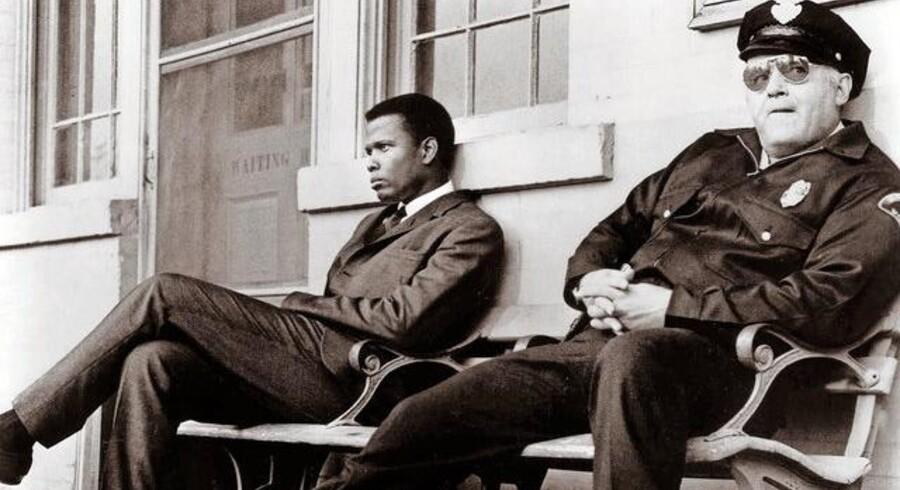 Sidney Poitier og Rod Steiger i Norman Jewisons »I nattens hede« fra 1967. Foto: Scanpix