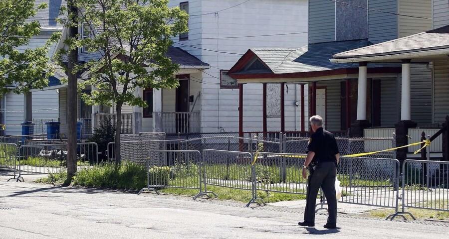 Huset på Seymour Avenue i Cleveland, Ohio, hvor tre kvinder blev holdt fanget i et årti.