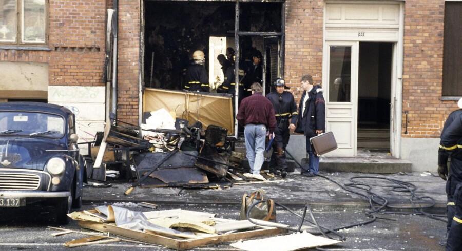 ARKIVFOTO. Bombeattentat mod Internationale Socialister, Søllerødgade, København.