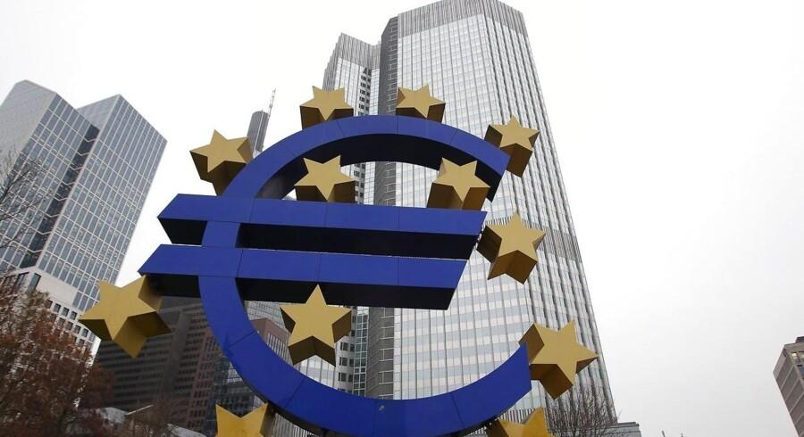 Den europæiske centralbank i Frankfurt