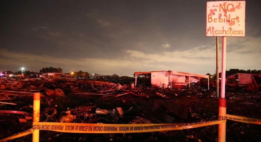 Tirsdag eksploderede fyrværkerimarkedet San Pablito uden for den mexikanske hovedstad.