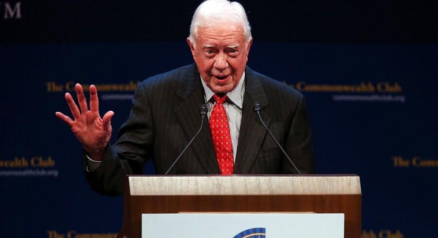 """Ekspræsident Jimmy Carter har fået en form for oprejsning via filmen """"Operation Argo"""", som beskriver, hvordan en hemmelig mission befriede seks gidsler under gidseltagningen på den amerikanske ambassade i Teheran i 1979-80. Foto: Justin Sullivan/AFP"""